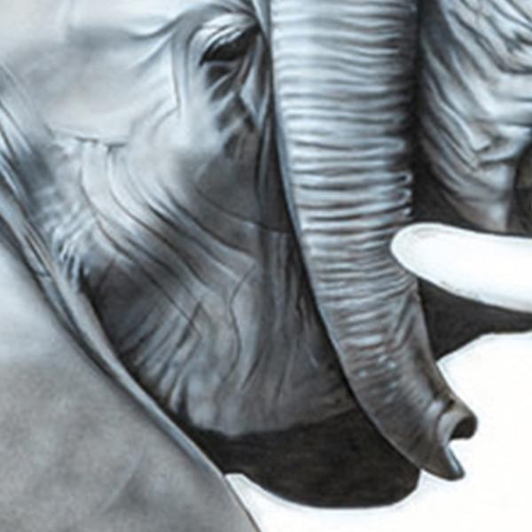 Elephants mara painting NelumboArt