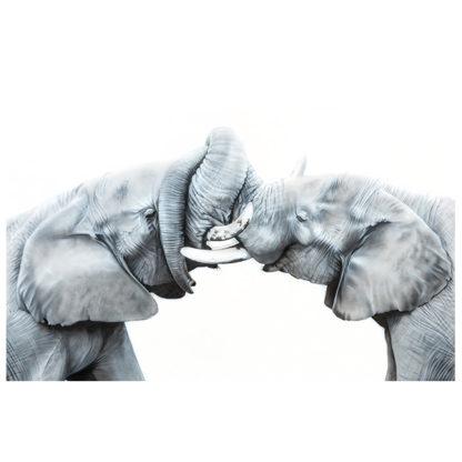 Elephants in Mara painting NelumboArt