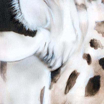Giraffe portrait painting NelumboArt