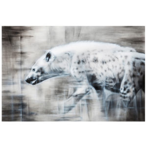 hyena in mara painting NelumboArt