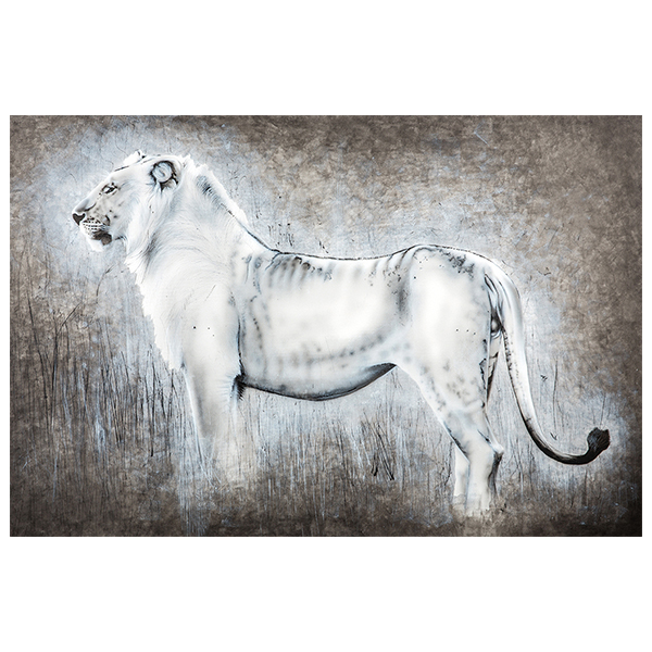 lion in mara painting NelumboArt