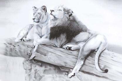 lion painting NelumboArt
