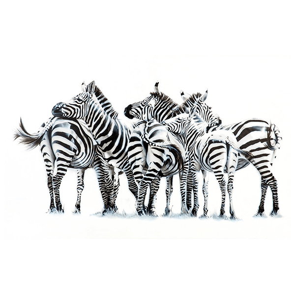 zebras in mara painting NelumboArt