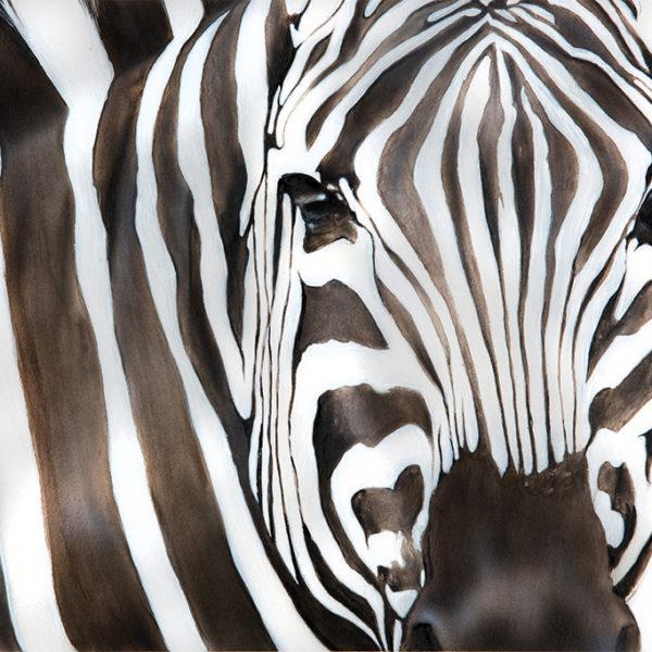 zebras portrait painting NelumboArt