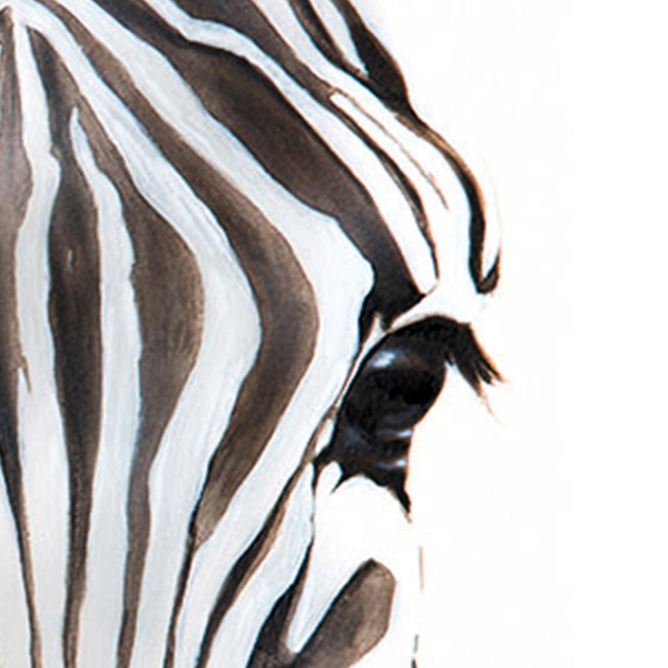 Zebra portrait painting NelumboArt