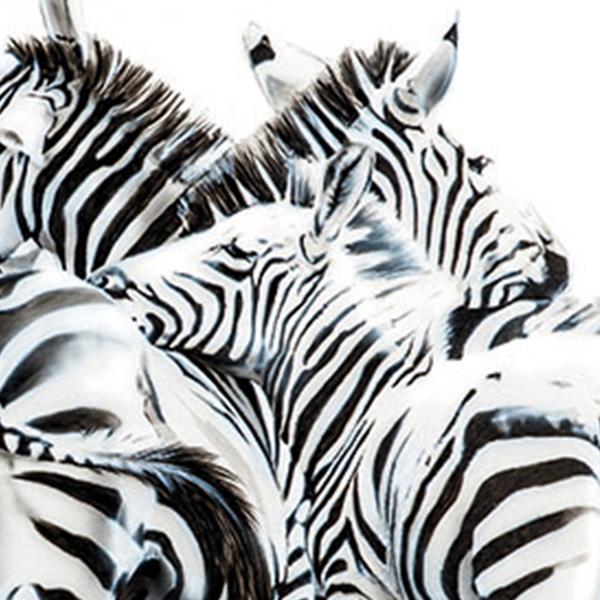 Zebras in Mara painting NelumboArt