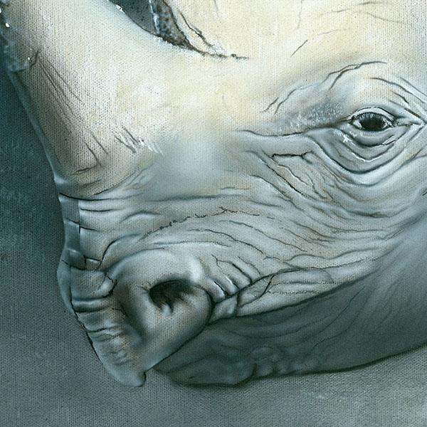 Rhinos painting NelumboArt