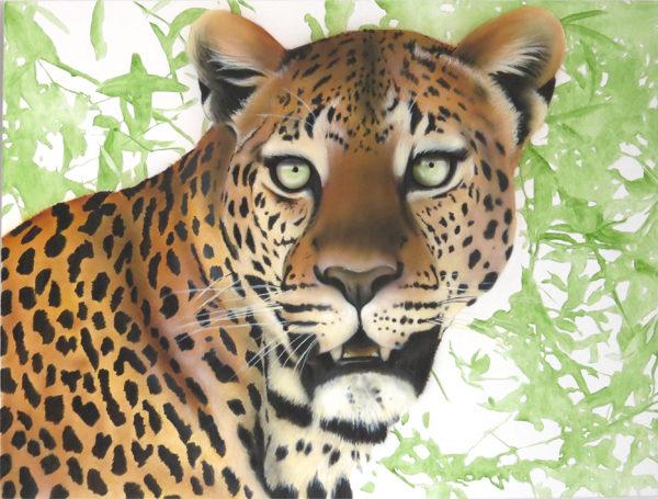 leopard painting NelumboArt